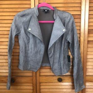 Gray suede jacket